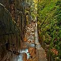 Looking Down Flume Gorge by Adam Jewell