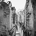 Looking Down On Internal Walkways From Upper Tier Of Old Roman Colloseum El Jem Tunisia by Joe Fox