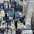 Looking Down On Midtown Nyc by Toula Mavridou-Messer