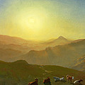 Looking From The Shade On Clay Hill .sunset Clay Street Hill San Francisco by Albert Bierstadt
