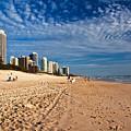 Looking North Along The Beach by Darren Burton