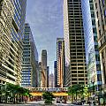 Looking South On Lasalle by Steven K Sembach