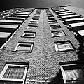 looking up at stangate house 1950s tower block flats housing lambeth London England UK by Joe Fox