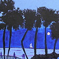 Looming Shore At Night by Artists With Autism Inc