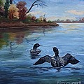 Loon Dance II by Brenda Thour