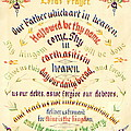 Lord's Prayer Calligraphy 1889 by Padre Art