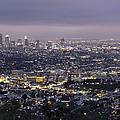 Los Angeles At Night From The Griffith Park Observatory by Belinda Greb