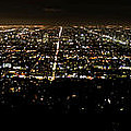 Los Angeles At Night by Mark Schumpert