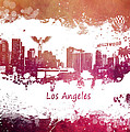 Los Angeles California Skyline by Justyna JBJart