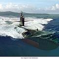 Los Angeles Class Submarine by Mark Karvon