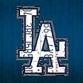 Los Angeles Dodgers Baseball Vintage Logo License Plate Art by Design Turnpike