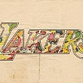 Los Angeles Lakers Logo Art by Florian Rodarte