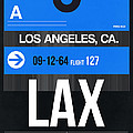 Los Angeles Luggage Poster 3 by Naxart Studio