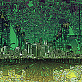 Los Angeles Skyline Abstract 6 by Bekim Art