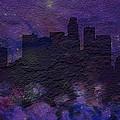 Los Angeles Skyline Brick Wall Mural by Brian Reaves