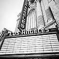 Los Angeles Theatre Sign in Black and White by Paul Velgos