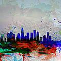Los Angeles  Watercolor Skyline 1 by Naxart Studio
