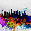 Los Angeles  Watercolor Skyline 2 by Naxart Studio