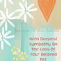 Loss Of Beloved Pet Card by Linda Woods