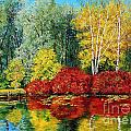Autumn Pond by MGL Meiklejohn Graphics Licensing