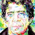 Lou Reed Watercolor Portrait.1 by Fabrizio Cassetta