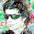 Lou Reed Watercolor Portrait.2 by Fabrizio Cassetta