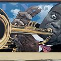 Louie Armstrong Mural In Eureka by Carol M Highsmith