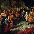 Louis Xiv 1638-1715 Receiving The Persian Ambassador Mohammed Reza Beg In The Galerie Des Glaces by Antoine Coypel