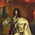 Louis Xiv In Royal Costume, 1701 Oil On Canvas Detail Of 59867 by Hyacinthe Francois Rigaud