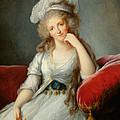 Louise-marie Adelaide, Duchesse Dorleans Oil On Canvas See Also 91622 by Elisabeth Louise Vigee-Lebrun
