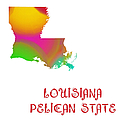 Louisiana State Map Collection 2 by Andee Design