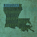 Louisiana Word Art State Map on Canvas by Design Turnpike