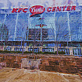 Louisville Kentucky Kfc Yum Center Digital Painting by David Haskett II