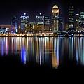 Louisville Kentucky Skyline by Nicholas Hall