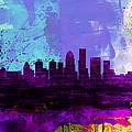 Louisville Watercolor Skyline by Naxart Studio