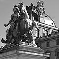 Louvre Man On Horse by Cheryl Miller