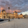 Louvre Museum At Sunset by Ioan Panaite