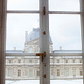 Louvre Museum Viewed Through A Window by Panoramic Images
