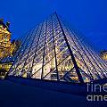 Louvre Pyramid At Dusk by Mark Skalny