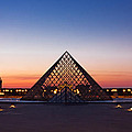 Louvre Pyramid At Dusk / Paris by Barry O Carroll