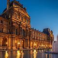 Louvre Sunset by Mark Llewellyn
