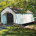 Loux Covered Bridge Bucks County Pa by Aurelia Nieves-Callwood