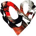 Love 18- Heart Hearts Romantic Art by Sharon Cummings