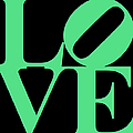 Love 20130707 Green Black by Wingsdomain Art and Photography