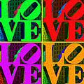 Love 4 Philadelphia - Painterly V4 by Wingsdomain Art and Photography