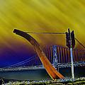 Love At Cupid's Span San Francisco Bay Bridge by LeeAnn McLaneGoetz McLaneGoetzStudioLLCcom