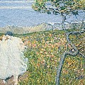 Love At The Fountain Of Life Or Lovers At The Sources Of Life by Giovanni Segantini