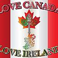 Love Canada Love Ireland16in by Ireland Calling
