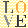 Love Chevron Yellow by Voros Edit