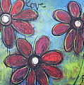Love For Three Daisies by Laurie Maves ART
